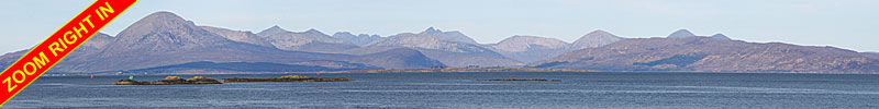 Cuillin Hills on the Isle of Skye PANORAMA - Zoom in