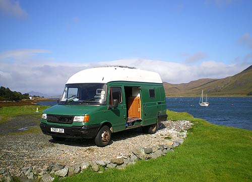 Caper van touring Isle of Skye using 3G for internet - 3 Network